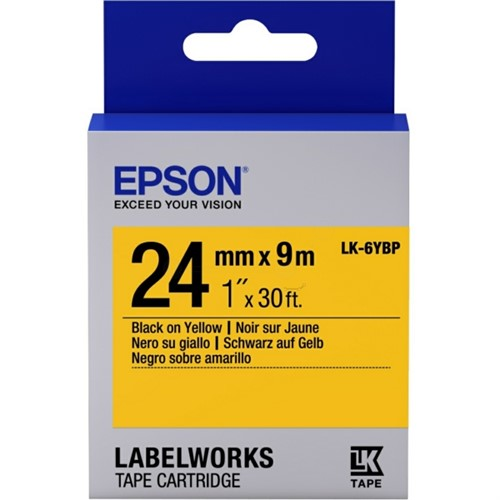 Epson C53S656005 (LK-6YBP) DirectLabel-etikettes, 24mm x 9m