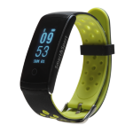 "Denver Electronics BFH-13 Wristband activity tracker Black, Lime IP68 OLED 2.44 cm (0.96"") Wireless"