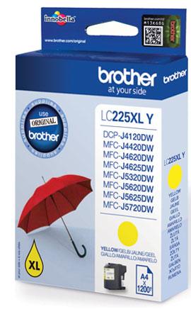 Brother LC-225XLY cartucho de tinta Original Amarillo 1 pieza(s)