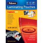 Fellowes Glossy Pouches 65 x 95mm 100 pcs. 125 mµ laminator pouch