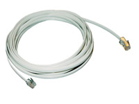 MCL Cordon plat RJ11 6P/4C - RJ45 2 metres cable de red 2 m Blanco