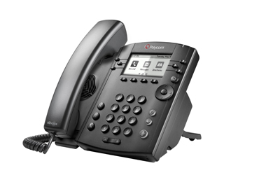 Polycom VVX 300 Wired handset 6lines LCD Black IP phone
