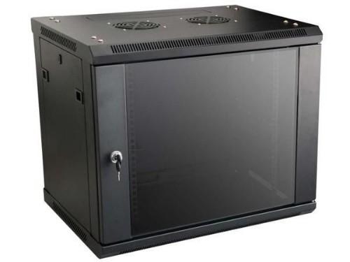Lanview LVR240002 rack cabinet 10U Wall mounted rack Black