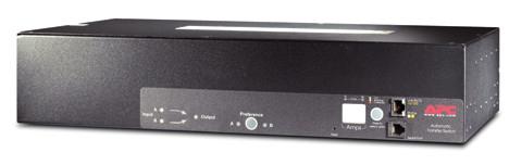 APC Rack ATS, 230V, 32A, IEC309 in, (16)C13 (2)C19 out power distribution unit (PDU) Black