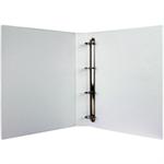 White Box WB PRES BINDER 4 D RING WHITE 25MM