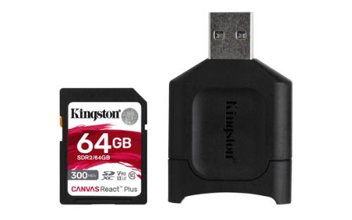 Kingston Technology Canvas React Plus memory card 64 GB SD UHS-II Class 10