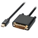 "4XEM 4XMDPDVI6 video cable adapter 70.9"" (1.8 m) mini DisplayPort DVI Black"