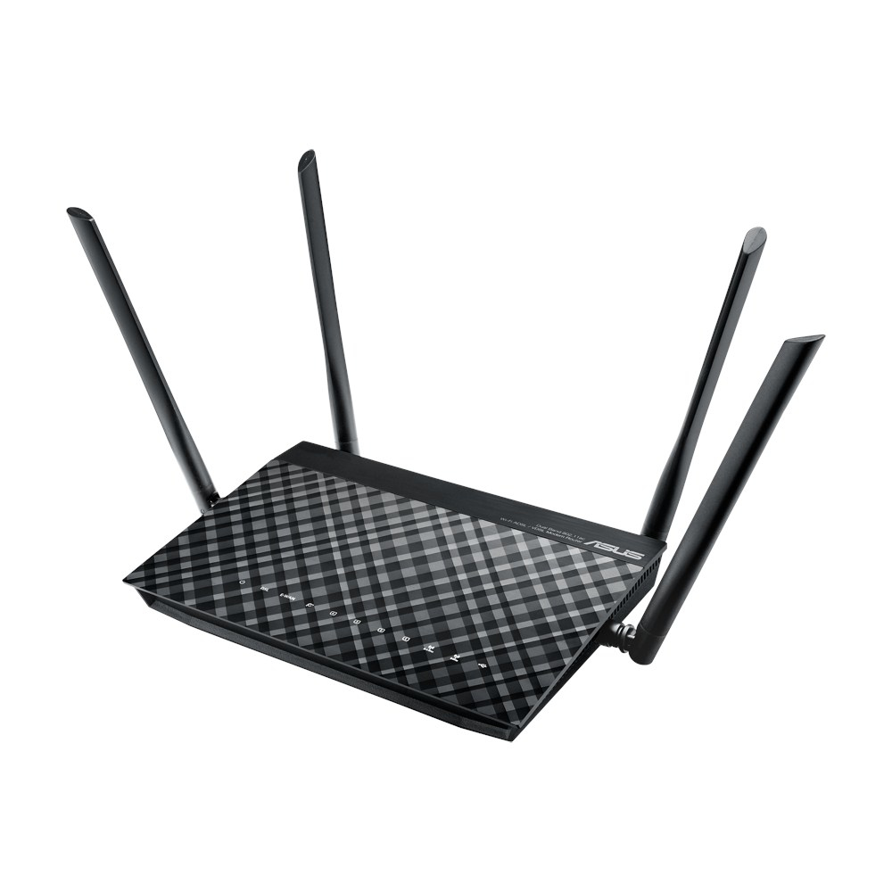 ASUS DSL-AC55U wireless router Dual-band (2.4 GHz / 5 GHz) Gigabit Ethernet 3G 4G Black