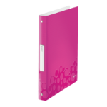 Leitz WOW ring binder A4 Metallic,Pink