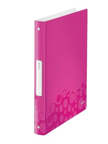 Leitz WOW ring binder A4 Metallic,Pink