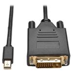 Tripp Lite P586-003-DVI-V2 Mini DisplayPort 1.2 to DVI Active Adapter Cable (M/M), 1080p, 3 ft. (0.9 m)