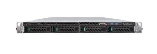 Intel R1304WT2GSR server barebone Intel® C612 LGA 2011-v3 Rack (1U) Black, Metallic