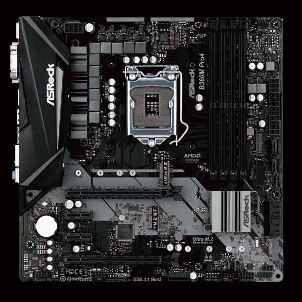 Asrock B360M Pro4 Intel® B360 LGA 1151 (Socket H4) Micro ATX