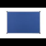 Bi-Office Maya Blue Felt Noticeboard Aluminium Frame DD