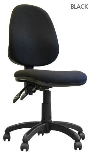 High Back Operator Chair With Arms Black