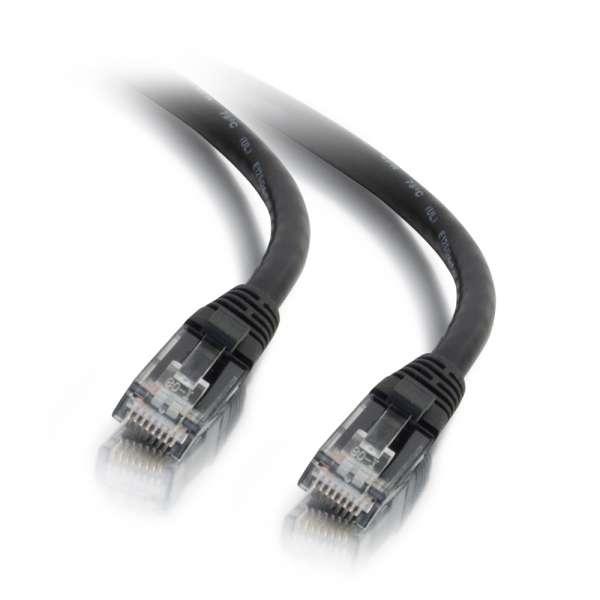 C2G Cable de conexión de red LSZH UTP, Cat6, de 0,5 m - Negro