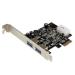 StarTech.com Adaptador Tarjeta Controladora PCI Express PCI-E 2 Puertos USB 3.0 con Alimentación Molex y UASP