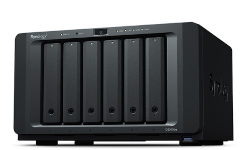 Synology DS3018XS 48TB DS3018XS IronWolf 6 Bays NAS Server ETHERNET LAN - Black