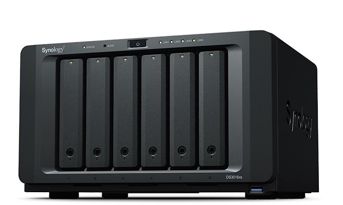 Synology DiskStation DS3018xs Ethernet LAN Desktop Black NAS