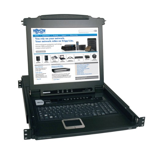 Tripp Lite NetDirector 8-Port 1U Rack-Mount Console KVM Switch with 17-in. LCD