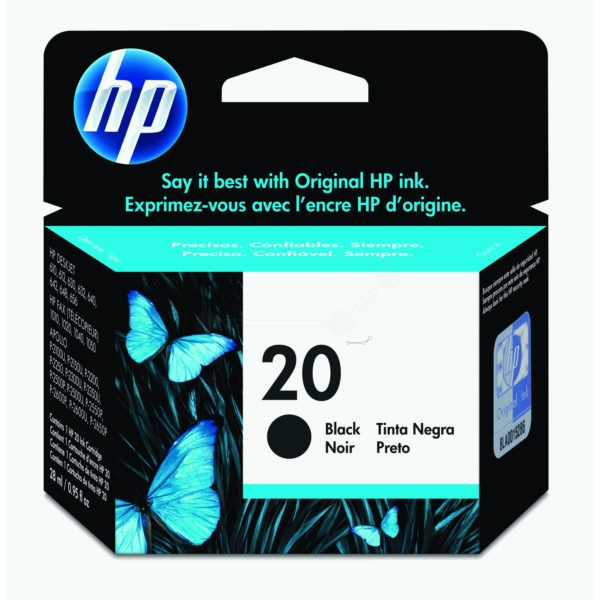 HP C6614DE (20) Printhead black, 460 pages, 28ml