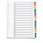 Q-CONNECT KF01520 Numeric tab index Multicolour tab index