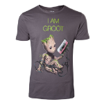 Marvel Guardians of the Galaxy Vol. 2 Men's I am Groot T-Shirt, Medium, Dark Grey (TS571030GOG-M)