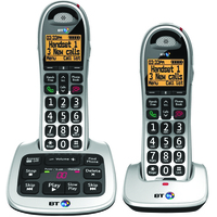 British Telecom BT 4000 Twin DECT telephone Beige,Silver