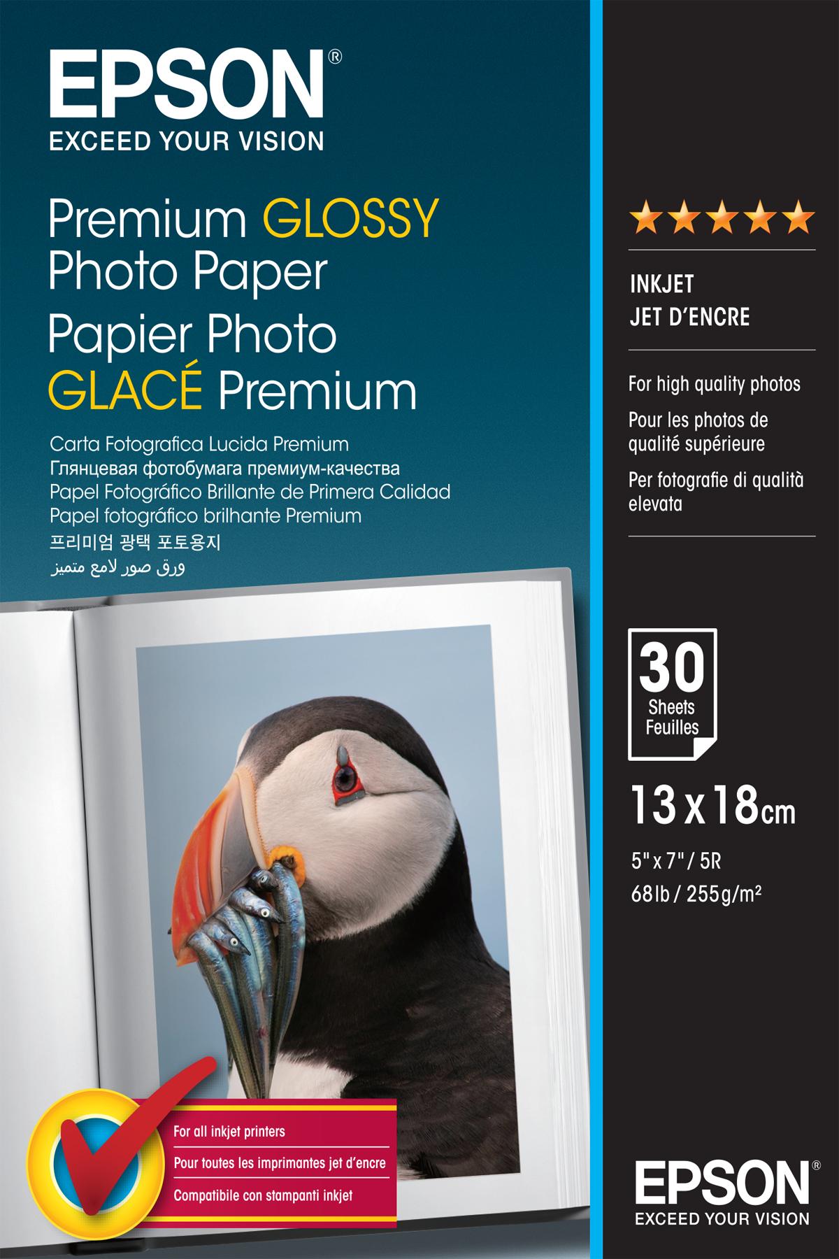 Epson Premium Glossy - 13x18cm - 30 Sheets photo paper