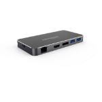 Hypertec ProDock Essential 3 - Universal USB-C Dock with HDMI and DisplayPort Dual Screen (Mirror and Extensi