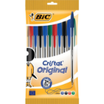 BIC 830865 Stick ballpoint pen Black, Blue, Green, Red 10pc(s) ballpoint pen