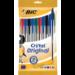 BIC 830865 Stick ballpoint pen Black,Blue,Green,Red 10pc(s) ballpoint pen