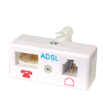 Videk 4013 telephone splitter RJ-11 F White