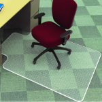 MARBIG CHAIRMAT KEYHOLE LOW PILE 1140MM X 1340MM