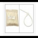 Unirise ZIP-04IN-100PKCL Nylon White 100pcs cable tie
