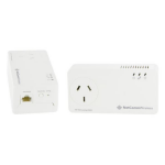 NETCOMM NP1201 1200Mbps Powerline Kit with Gigabit Ethernet & AC Passthrough