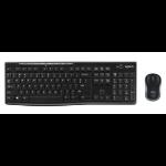 Logitech MK270 Tastatur RF Wireless QWERTY Nordischer Raum Schwarz
