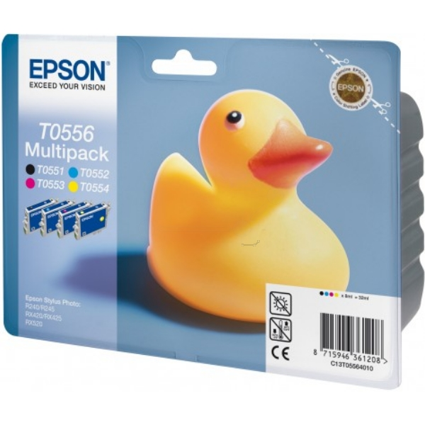 Epson C13T05564010 (T0556) Ink cartridge multi pack, 290 pages, 4x8ml, Pack qty 4