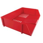 Q-CONNECT Q CONNECT WIDE ENTRY LETTER TRAY RED