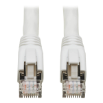 Tripp Lite Cat8 25G/40G-Certified Snagless Shielded S/FTP Ethernet Patch Cable (RJ45 M/M), PoE, White, 3.05 m