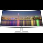 """HP 34f 86.4 cm (34"""") 3440 x 1440 pixels UltraWide Quad HD LED Black,White"""