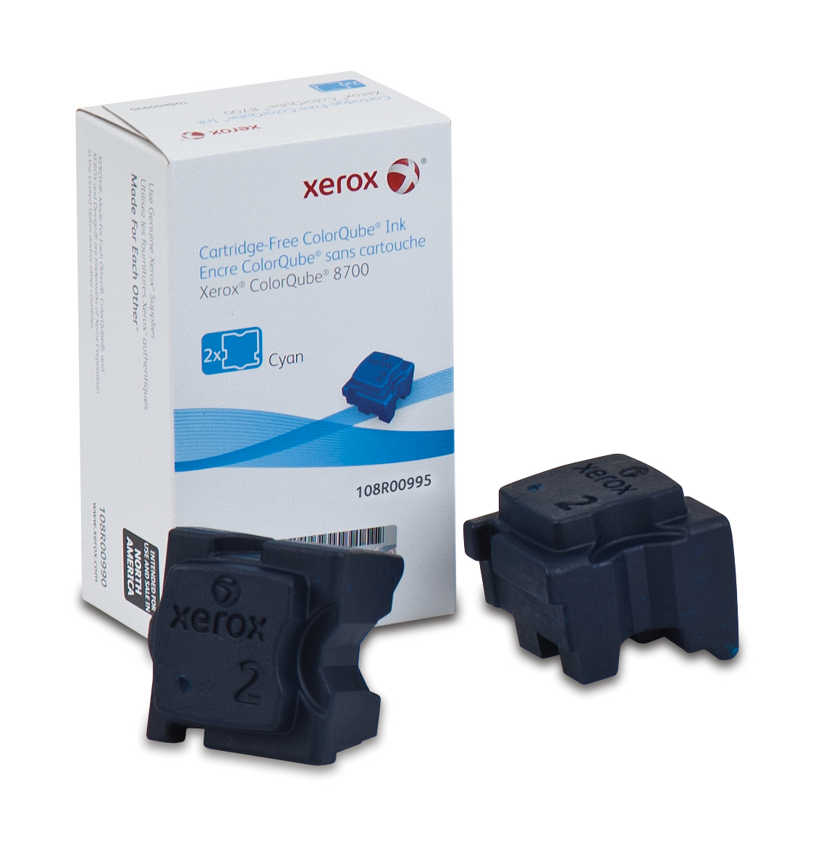 Xerox ColorQube 8700 / 8900 Tintensticks Cyan (4200 Seiten) - 108R00995