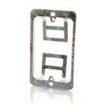 C2G Single Gang Wall Plate Mounting Bracket Silver