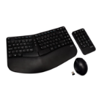 V7 Ergonomic Wireless Keyboard, Mouse, and Keypad Combo