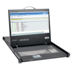 Tripp Lite 1U Rack-Mount Console with 19 in. LCD, 1920 x 1080 (1080p), DVI or VGA Video