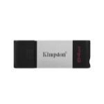 Kingston Technology DataTraveler 80 USB flash drive 64 GB USB Type-C 3.2 Gen 1 (3.1 Gen 1) Black,Silver