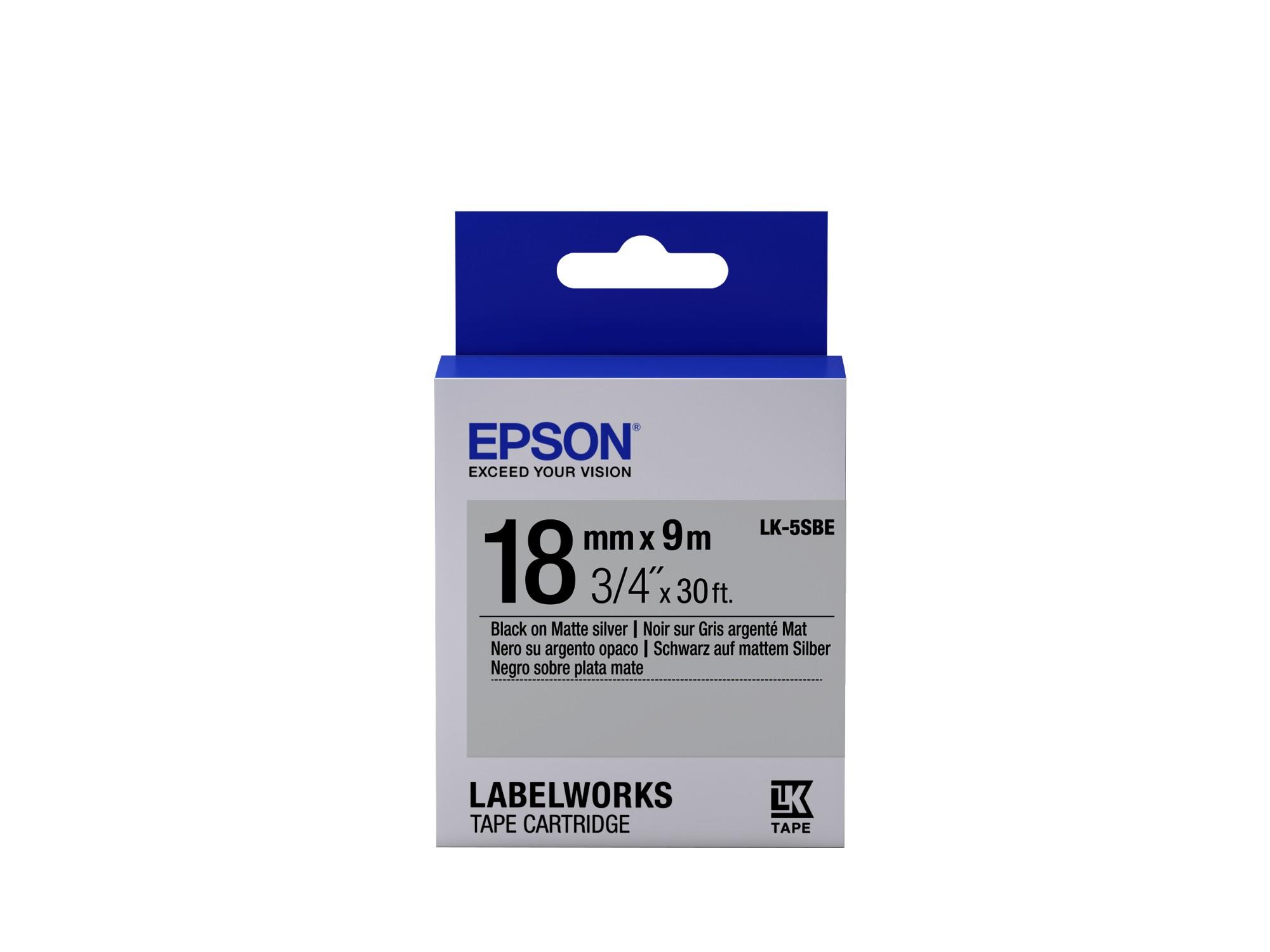 Epson C53S655013 (LK-5SBE) DirectLabel-etikettes, 18mm x 9m