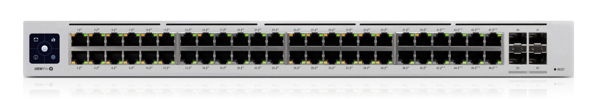 Ubiquiti Networks UniFi Pro 48-Port PoE Managed L2/L3 Gigabit Ethernet (10/100/1000) Power over Ethernet (PoE) 1U Silver