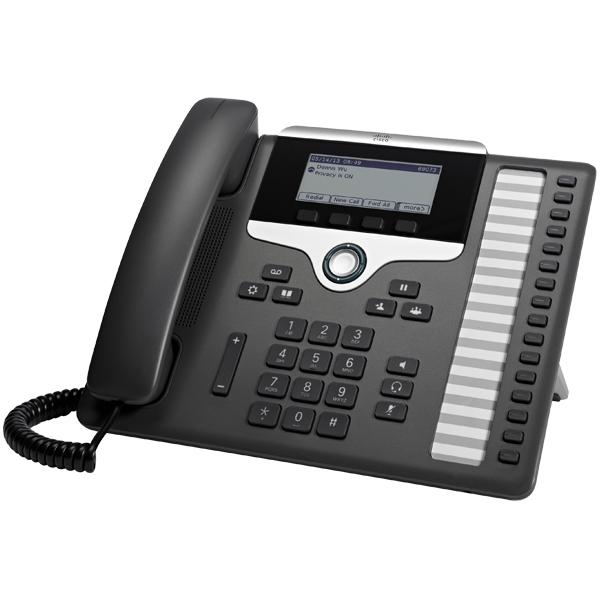 Cisco 7861 IP telefoon Zwart, Zilver Handset met snoer LCD 16 regels