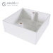 CONNEkT Gear Single Gang Back Box Surface Mount 32mm Deep - White